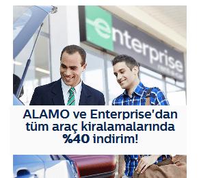 Türk Telekom Araç Kiralama indirim Kodu (ALAMO ve Enterprise)