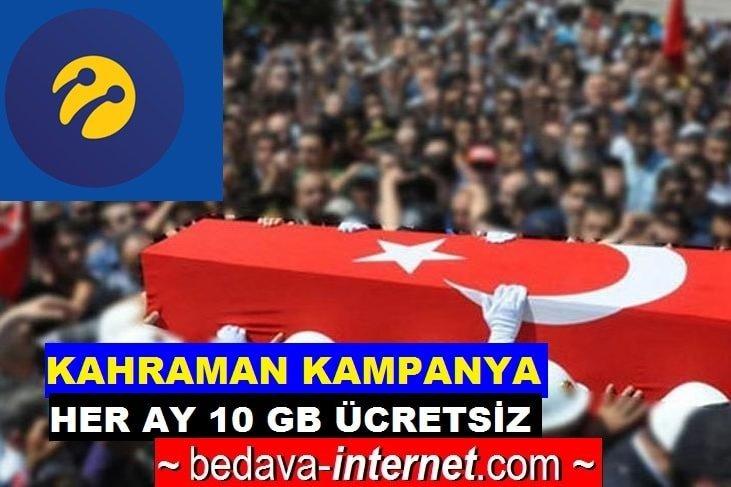 Photo of Turkcell Şehit ve Gazi Her Ay Ücretsiz 10 GB