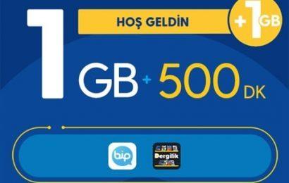 Turkcell Hoşgeldin 1 GB Paketi 25 TL