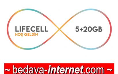 Turkcell Lifecell Hoş Geldin 5GB Paketi 34 TL