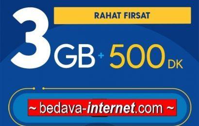 Turkcell Rahat Fırsat 3 GB Paketi 26 TL