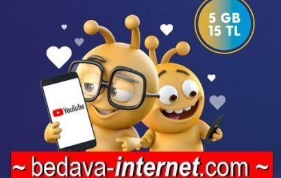 Turkcell Youtube 5 Gb 15 TL Paketi