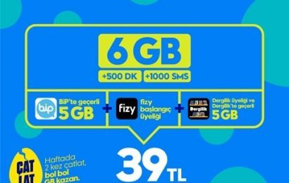 GNÇ Süper 6GB Paketi 39TL