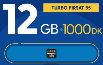 Turbo Fırsat 12GB Paketi 55 TL