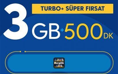 Turkcell Turbo+ Süper Fırsat 3GB Paketi 29,90 TL
