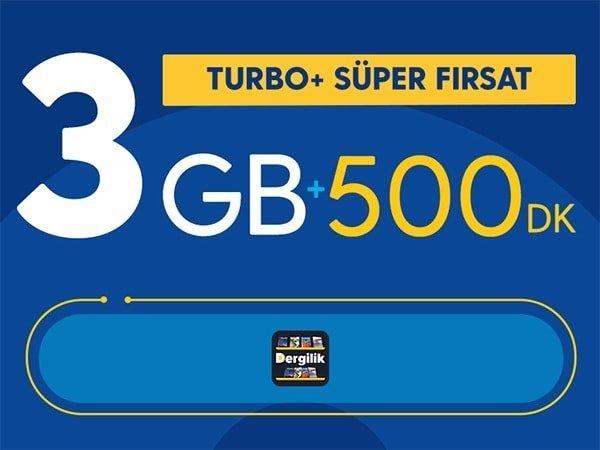 Photo of Turkcell Turbo+ Süper Fırsat 3GB Paketi 29,90 TL