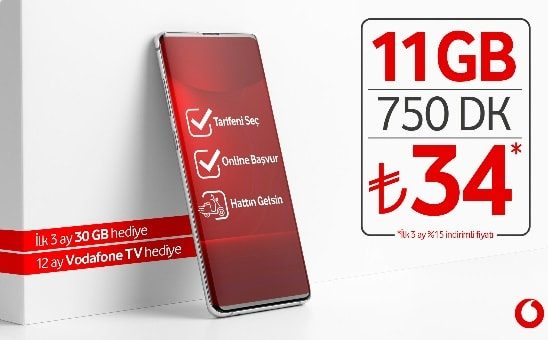 Photo of Vodafone Devreden Uyumlu 11GB Paketi 34 TL