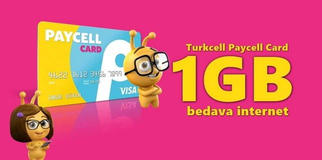 Paycell Kart İle 1 GB Bedava İnternet