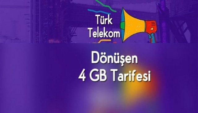 Türk Telekom Dönüşen Tarife İle Bedava İnternet