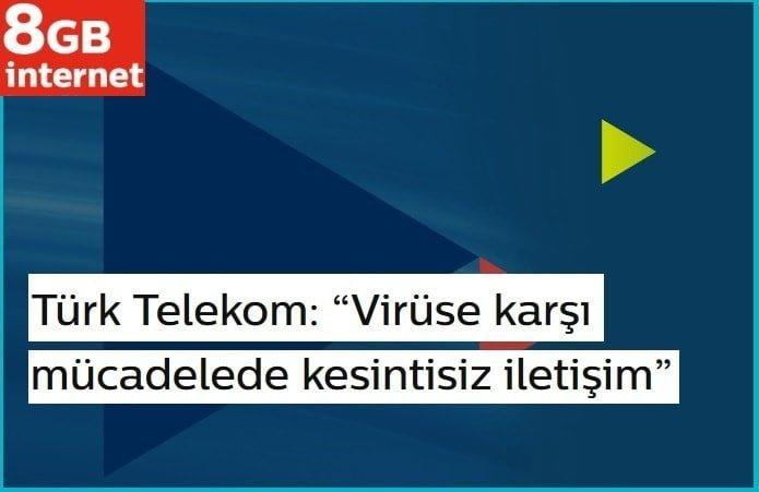 Türk Telekom EBA Virüs hediye internet alma