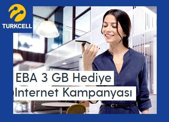 Turkcell EBA 3 GB ücretsiz internet nasıl alınır?