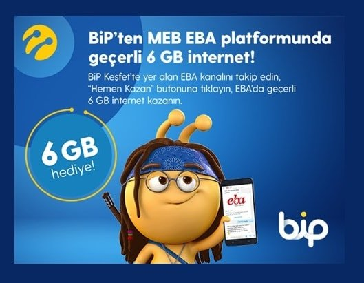 Turkcell EBA 6 GB İnternet Alma