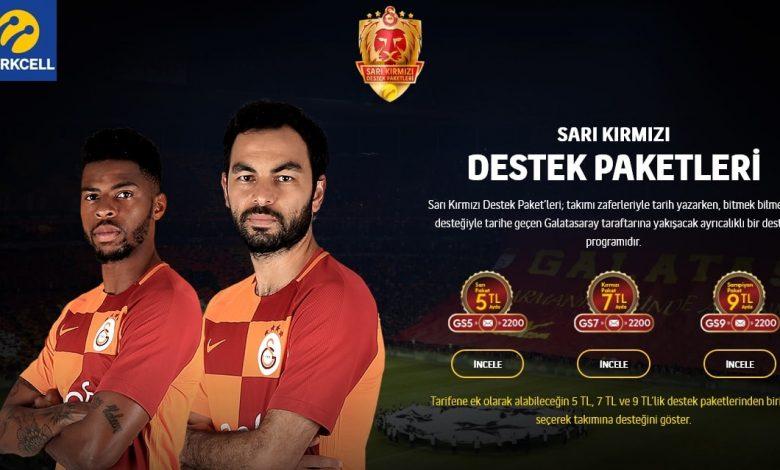 Turkcell Galatasaray Destek Paketleri