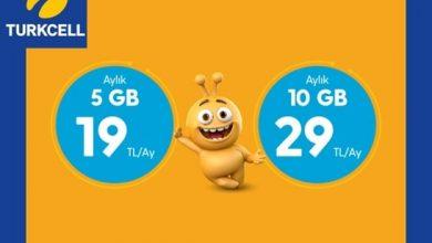 Photo of Turkcell Kaçmaz Paketler 5 GB internet 19 TL