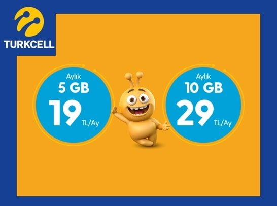 Turkcell Kaçmaz Paketler 5 GB internet 19 TL