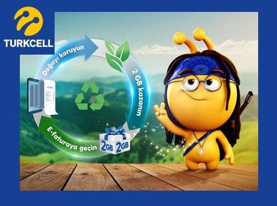 Turkcell e-Faturaya Geçenlere Hediye 2 GB