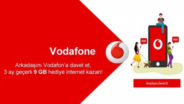 Arkadaşını Vodafone'a Davet Et Bedava İnternet Kazan