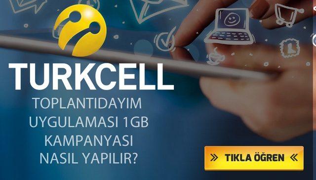 Turkcell Toplantıdayım 1 GB Bedava İnternet