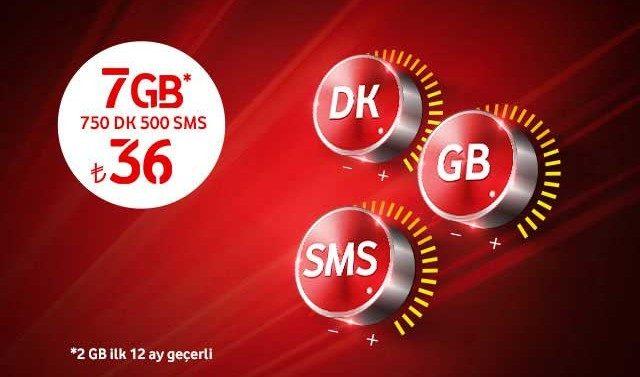 Vodafone Süper Uyumlu Tarife İle 2 GB Bedava İnternet