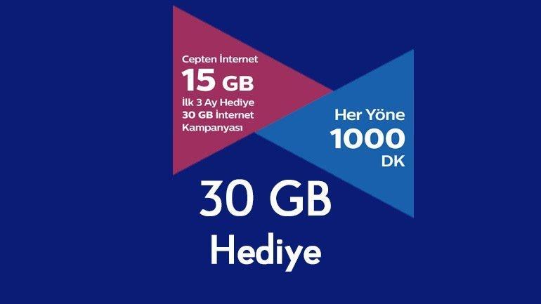 Türk Telekom 30 GB Hediye İnternet Kampanyası