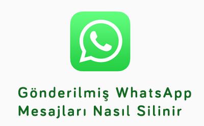 WhatsApp'tan Mesajlar Nasıl Silinir?