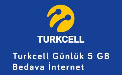 Turkcell Günlük 5 GB Bedava İnternet