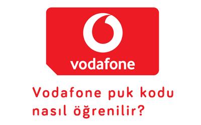 Vodafone puk kodu nasıl öğrenilir?