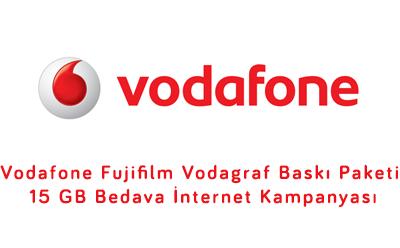 Vodafone Fujifilm 15 GB Bedava İnternet Kampanyası