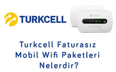 Turkcell Faturasız Mobil Wifi Paketleri Nelerdir?